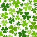 St. Patricks day seamless background with shamrock