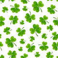 St. Patrick's day seamless pattern with shamrock. Vector illustration. Royalty Free Stock Photo