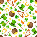 St. Patrick`s day seamless pattern. Vector illustration.