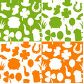 St patrick s day seamless patterns a pattern with patricks or saint elements in four different versions useful also as design Stock Images