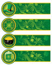 St. Patrick's Day, set of banners. Royalty Free Stock Photos