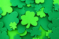 St Patrick's Day shamrock background Royalty Free Stock Photo
