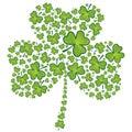 St Patrick's day shamrock pattern
