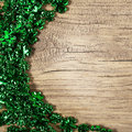 St. Patrick's Day. Shamrock Shaped Shiny Leaves Royalty Free Stock Photo