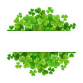 St. Patrick's day vector background with shamrock. Royalty Free Stock Photo