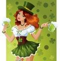 St. Patrick's Day waitress