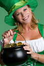 St Patrick's Day Woman Stock Photography