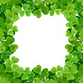 St patrick s frame with shamrock green on white Royalty Free Stock Photo