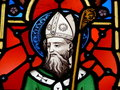 St. Patrick, stained glass image Royalty Free Stock Images