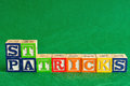 St Patrick's day spelled with colorful alphabet blocks Royalty Free Stock Photo
