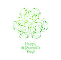 St patricks background with design ornate clover and text Royalty Free Stock Photos