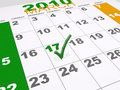 St Patricks Calendar Royalty Free Stock Photo