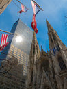 St patricks cathedral view of in manhattan Royalty Free Stock Photography