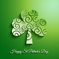 St patricks day background clover design Royalty Free Stock Photos