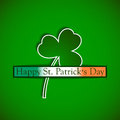 St. Patricks day background with clover and irish flag Royalty Free Stock Photo
