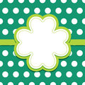 St patricks day background with leaf clover text card menu or poster template shamrock frame and ribbon banner on seamless green Royalty Free Stock Photography