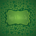 St patricks day background vector illustration with frame Royalty Free Stock Photo
