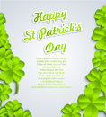St patricks day background vector ilustration Royalty Free Stock Photos
