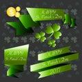 St Patricks day badges and labels set