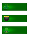 St patricks day banners set of Royalty Free Stock Image