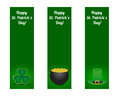 St patricks day banners set of Stock Photography