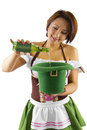 St Patricks Day Bartender Royalty Free Stock Photo