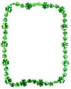 St patricks day beads on a white background backgound with copy space Stock Photos