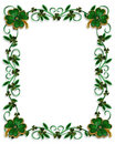 St Patricks Day Border Shamrocks Stock Photo
