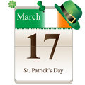 St patricks day calendar vector of for irish holiday th of march Stock Photos