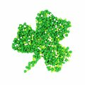 St patricks day candy shamrock made of sprinkles over white Royalty Free Stock Images
