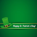 St. patricks day card Stock Image
