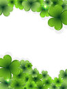 St. Patricks Day clover frame Royalty Free Stock Photography