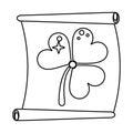 St patricks day clover papyrus thin line