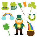 St. Patricks Day collection Stock Image