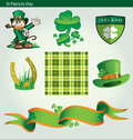 St patricks day collection of design elaments for Royalty Free Stock Image