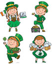 St patricks day cute kids contains transparent objects eps Stock Images