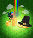 St Patricks day design with fairy Royalty Free Stock Photos