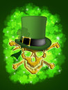 St Patricks Day Gold Skull Leprechaun Hat Stock Images
