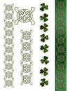 St Patricks Day Irish Celtic Borders Royalty Free Stock Image