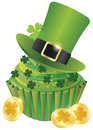 St Patricks Day Leprechaun Hat Cupcake Royalty Free Stock Photography