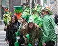 St patricks day new york ny usa mar patrick s parade on march in new york city united states Stock Image