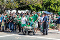 St patricks day parade enthusiastic crowd enjoys san diegos annual Royalty Free Stock Photos