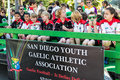 St patricks day parade members of san diegos youth gaelic athletic association in san diegos annual Royalty Free Stock Images