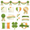 St patricks day ribbons and seals Stock Images