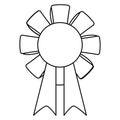 St patricks day rosette ornament icon thin line