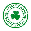 St. patricks day rubber stamp Royalty Free Stock Images