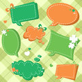 St Patricks day sale stickers and tags for text Royalty Free Stock Photography