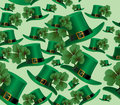 St patricks day seamless background Royalty Free Stock Images