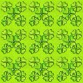 St. Patricks day seamless background with shamrock. Glass effect, 3D ornament