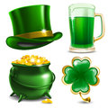 St patricks day set of symbols vector illustration Royalty Free Stock Photography